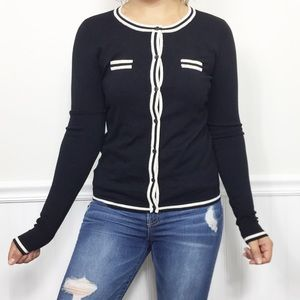 MNG by Mango NWT Black Button Up Cardigan Sweater